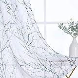 IL PACCHETTO: ogni confezione contiene 2 pezzi di tende di lino, la dimensione di una tenda è di L 127 x A 240 cm (la larghezza totale è di 254 cm). Consiglia di ordinare la larghezza della tenda, che va da 1,5 a 2,6 volte la larghezza della barra. T...