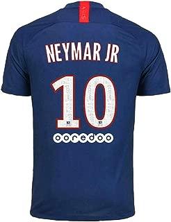 PSGTN Paris St Germain 10 Neymar 2019/2020 Season Home Mens Soccer Jersey Blue (S-XXL)