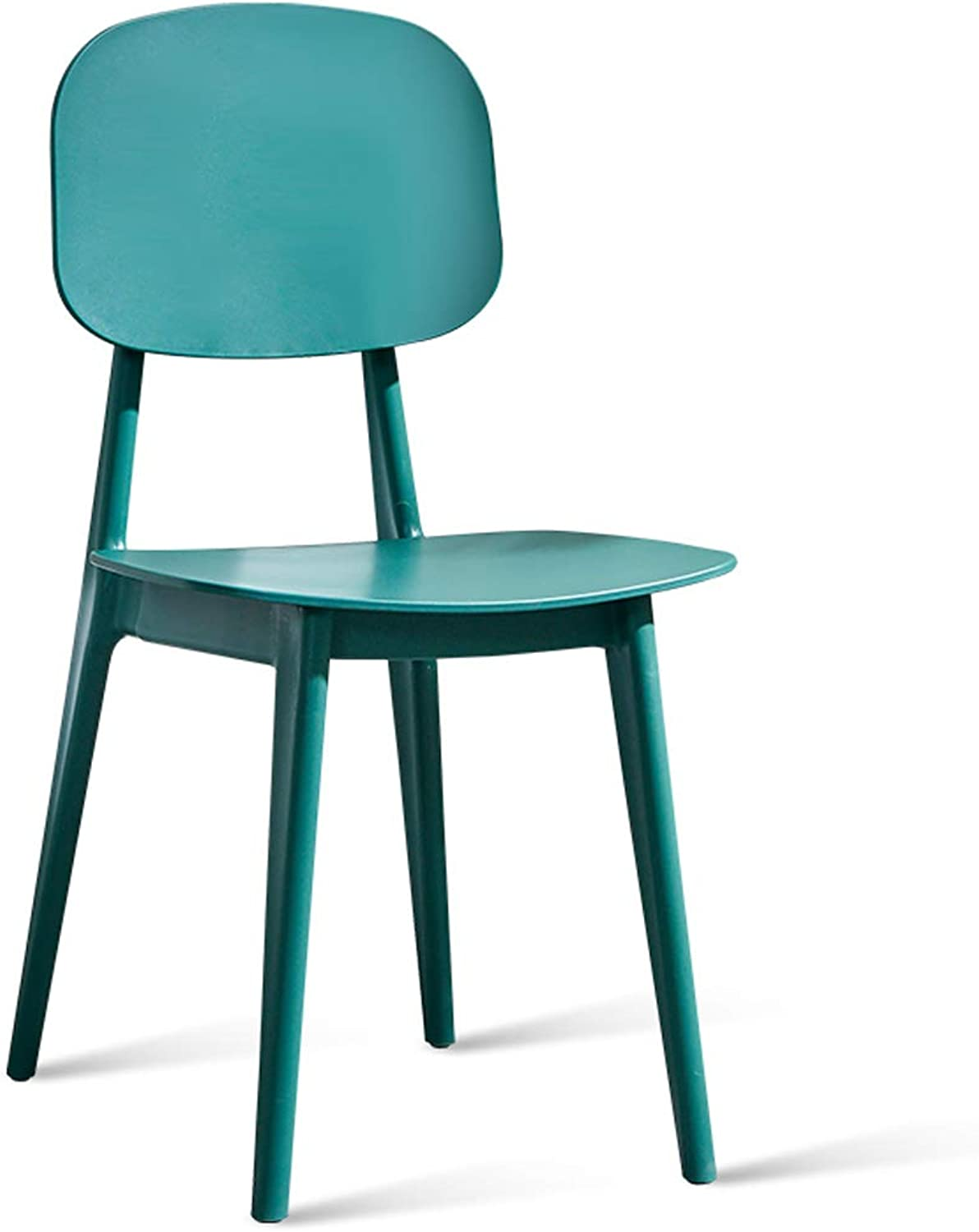 LRW Modern Nordic Dining Chair, Adult Back Chair, Dining Room Stool, Desk and Chair, Plastic Leisure Chair, Green