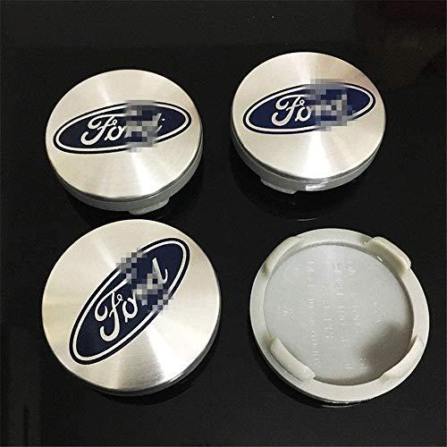 4 PCS Auto Center Hub Caps para Ford St Mustang, 54 mm Centro de rueda Logo Insignia Pegatinas Accesorios de decoración de modelado de neumáticos