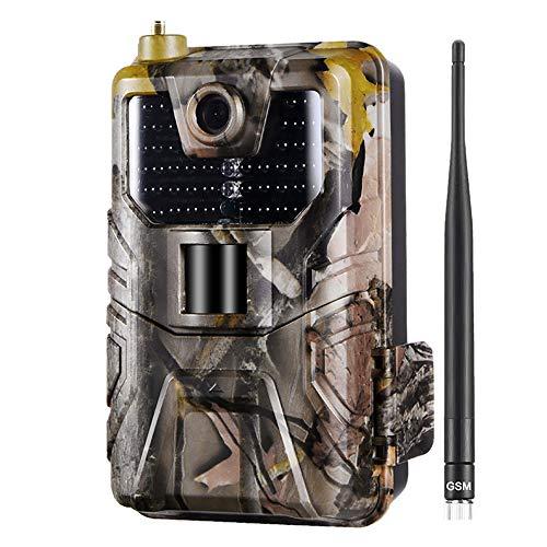 YTLJJ 2G Wildkamera Fotofalle 16MP 1080P mit Handy übertragung, Jagdkamera 2G GSM GPRS 44 Pcs Low-Glow 940nm IR-LEDs, Infrarot-Nachtsicht 65ft / 20m, IP65 wasserdichte, 2,0-Zoll-Bildschirm