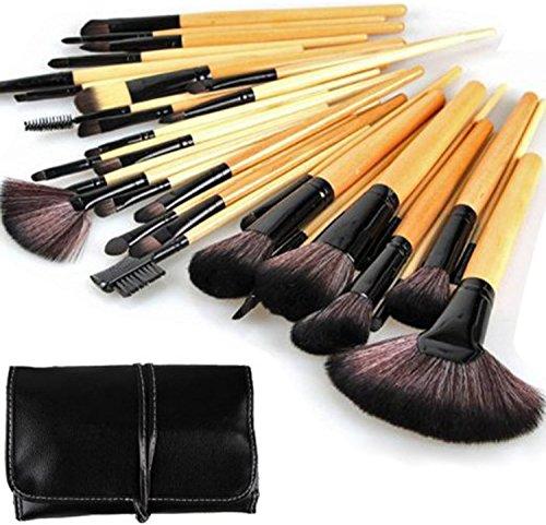 SAMGU 32 Pcs Professional Supérieur Cosmétique Cosmétique Ensemble de brosse Maquillage Ensembles de maquillage pour femme + Sac de sac de pochette
