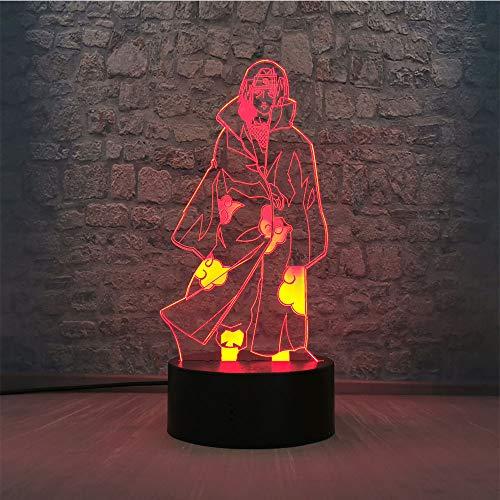 Uchiha Itachi - Lámpara de noche inalámbrica con mando a distancia