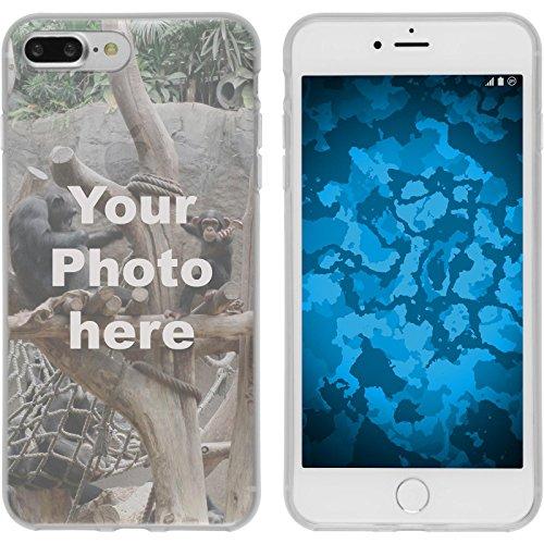 PhoneNatic Case kompatibel mit iPhone 7 Plus / 8 Plus Personalisierte Handyhülle Clear zum selbst gestalten mit eigenem Foto