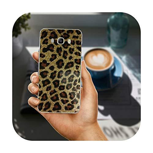 Phonecase - Carcasa para Samsung Galaxy A3, A5, A7, A8, J1, J3, J4, J5, J6, J7, J8, 2015, 2016, 2017, 2018, diseño de leopardo de tigre