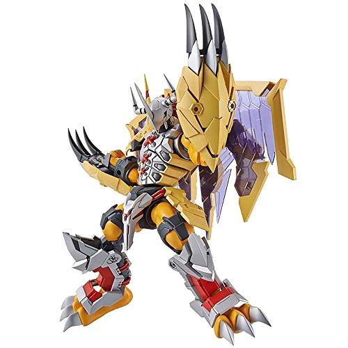 ZDCY Anime Statue Hand Finished Figur Haus Digimon Digimon Drachen Kämpfen Tyrannosaurus Für Leute, Die Liebe Gebäude Model Kits Yellow