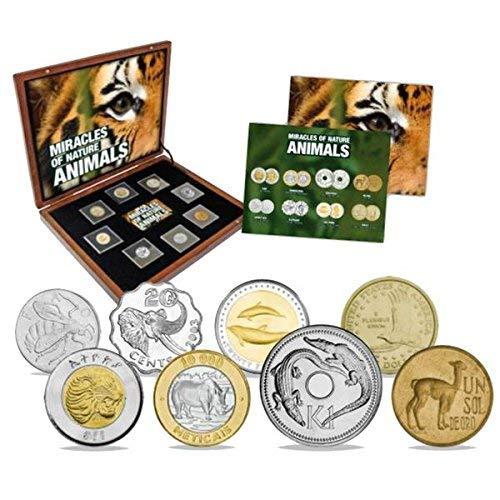 IMPACTO COLECCIONABLES Colección de Monedas Maravillas de la Naturaleza. 8 Monedas Auténticas de Animales