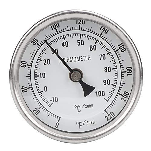 """Aiggend Bier Brauen Thermometer, 1/2"""" Npt Edelstahl-Metallbierthermometer Topf-Thermometer Zum Brauen Von Bier"""