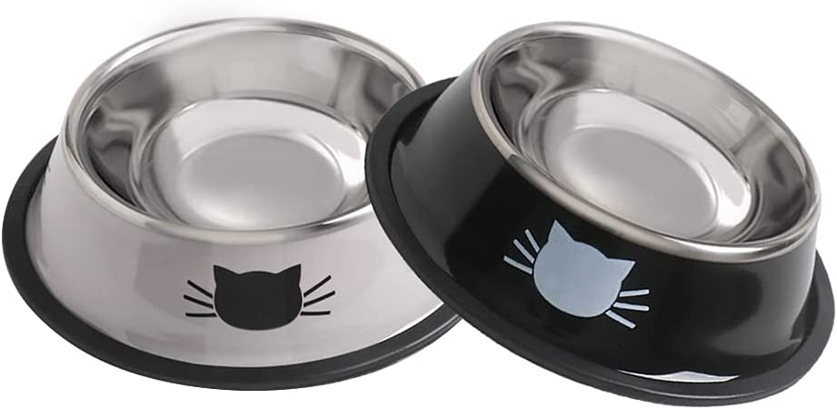 GKDOMS Cat Bowls Stainless Steel New arrival Bowl Non-Slip Spasm price Food C Water