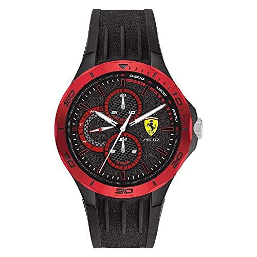 Scuderia Ferrari Pista Analog Black Dial Men's Watch-0830721