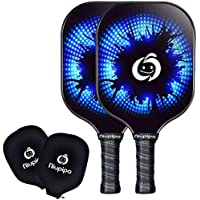 2-Pack niupipo Pickleball Paddle Set With Cushion Grip