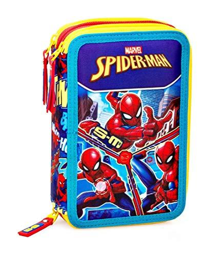 Inacio Marvel Spiderman XL Astuccio a Scompartimenti, Astuccio a Scomparti, Astuccio, Astuccio Portapenne, Custodia 44 Pezzi