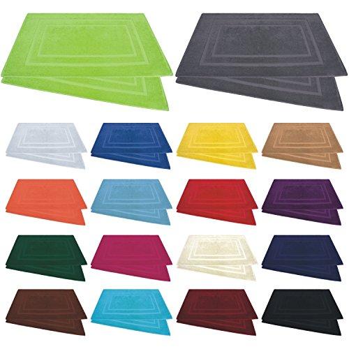 Badvorleger / Badematten / Badteppich - 2er Pack - Baumwolle 800g/m² - 50x80 cm - Farbe Pink