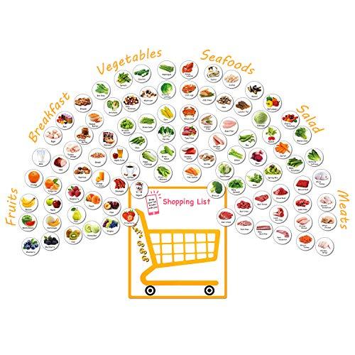 Kühlschrankmagnete 96 Stück Lebensmittelmagnete Mütter, Küche, Frühstück, Obst, Gemüse, Salat, Fleisch, funktionale Magnet-Aufkleber Liebe Geschenke für Mutter, Kinder, Erwachsene