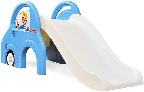 Toboggans pour Enfants pour Enfants D'intérieur Petite Aire De Jeux Jardin d'enfants Jouet d'escalade en Plastique pour Jardin Jouet Combiné (Couleur   bleu, Taille   142  40  60cm)