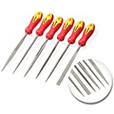 JawayTool 6pc Diamond Needle File Set Soft Grip Stone Tile Glass - Lifetime Warranty