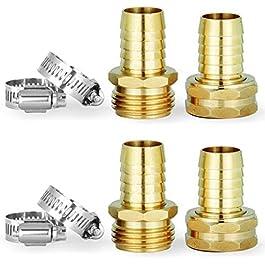 PLG Raccord de réparation de tuyau d'arrosage en laiton massif For 3/4″(inches) Hose
