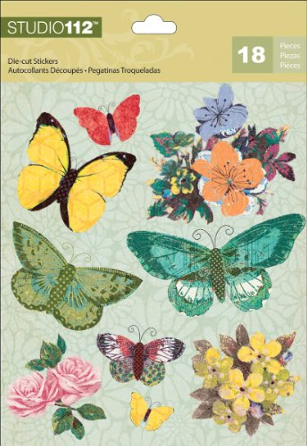 K&Company EK Success Studio 112 Spring Butterfly Die-Cut Stickers