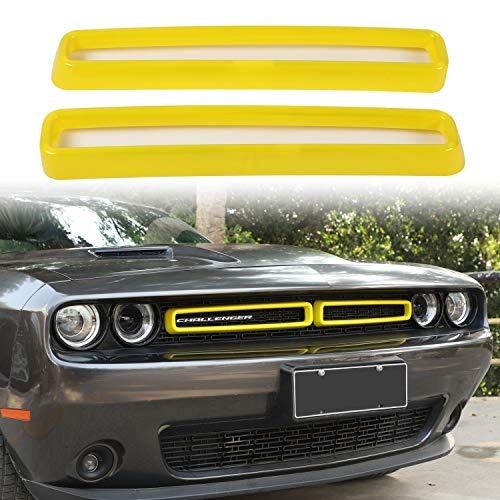 Voodonala for Challenger Door AC Outlet Vent Trim for 2015-2020 Dodge Challenger ABS Purple 2pcs