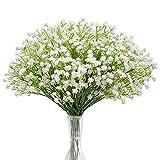 N&T NIETING Schleierkraut Künstliche Blumen, 10 Stück Schleierkraut Pflanzen Gypsophila Blumen für Hochzeit Brautsträuße Zuhause Basteln und Dekoration