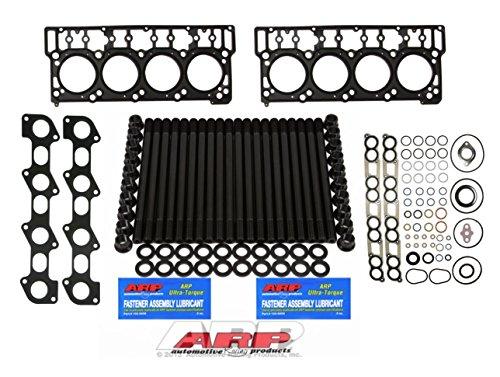 03-06 Ford Powerstroke 6.0L Diesel ARP Head Stud Kit & OEM Style 18MM Head Gaskets & Intake Manifold Installation Kit & Exhaust Gaskets Kit - Bundle (18MM)