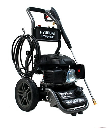 Hyundai Petrol Pressure Washer 170CC 6hp Engine 169bar Max Output 2465psi HYW2400P