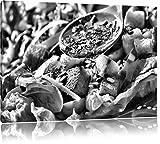 Pixxprint Kräuter Vinaigrette als Leinwandbild   Größe: 100x70   Wandbild  Kunstdruck   fertig bespannt