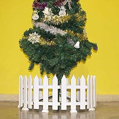 WAREORIGIN Christmas Xmas Tree Fences - White Pickets Decorative Indoor Fences Border Party Decoration (5 Feet in Total)