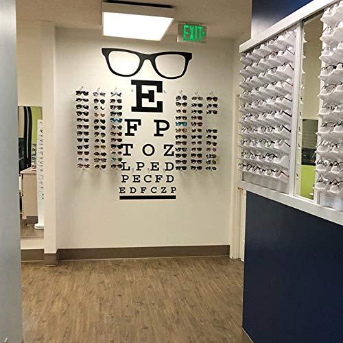 JXLLCD Gafas Grandes Tabla optométrica Ventana óptica Etiqueta de la Pared optometría Ocular médica Gafas de Moda Marco de especificación Etiqueta de la Pared de Vinilo de Vidrio 85cmhighx46cm