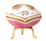 SudaTek Collectible Butterfly Egg Music Box Handmade Real Eggshell Musical Pearl...