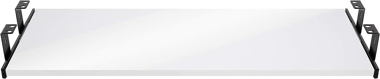 corredera extraible galvanizado 300mm FIX/&EASY Gu/ías con bandeja 800X300mm tono alto brillo blanco set caj/ón con extracto porte teclado rat/ón laptop