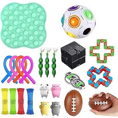 Juego de juguetes sensoriales Fidget, juguetes para aliviar la ansiedad, surtido de juguetes especiales para regalos de fiesta de cumpleaños, premios para el aula escolar, premios de carnaval (22pack) de Ocho-ocho-EU