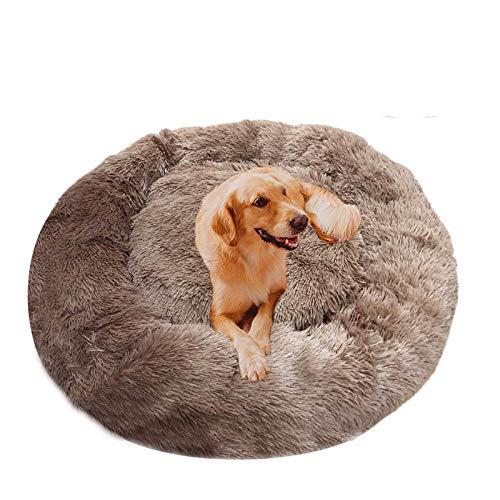 DUCHEN Haustierbett, Hundebett, Katzenhöhle, Hundesofa, Orthopädisches Bett für Kleiner, mittlerer, großer Hund,Haustiere in Doughnut-Form