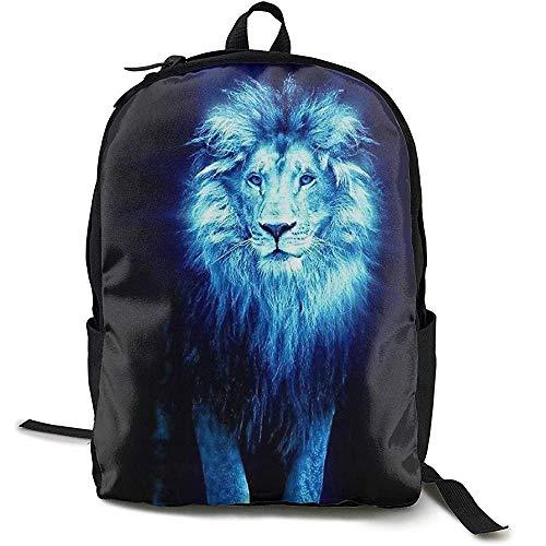 Rugzak, Zakelijke dunne en duurzame reisrugzak - University Men and Women Computer Bag - Dark Lion King Blue Art