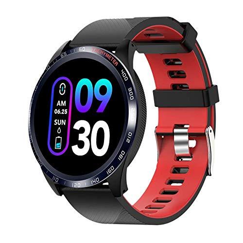 novasmart - runR IV Smartwatch, Fitnesstracker, Aktivitätstracker, Smart Band mit Farbdisplay, Herzfrequenz- und Blutdruckmessungen, Schlafmonitor, Kalorienzähler, Schrittzähler - Schwarz/Rot