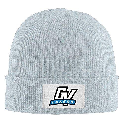 Unisex GVSU Grand Valley St. Laker Winter Warm Knit Beanie Skully Hat Ash