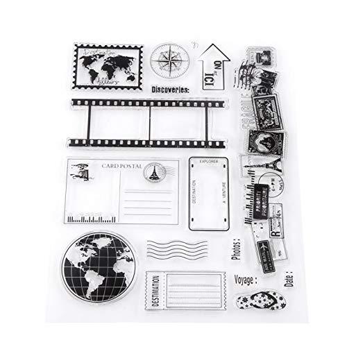 IGKE Earth Clear Stamps, gesunde Silikonstempel, Stempel, für Scrapbooking für Karten