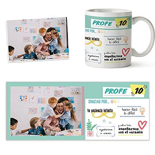 Fotoprix Taza Personalizada con Foto para Regalar a tu Profesor | Regalo Original Profesora | Varios diseños (Profesor 10)