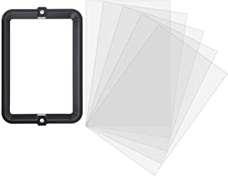 Diyeeni Resin Container with FEP Foil, Anodised Aluminum, 147.5 x 96mm Durable Metal Frame Photosensitive Resin Tank Container, Easy to Empty, 3D Printer Accessory