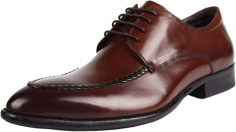 Wuf herrar Genuine läder Dress Dress Dress Formal skor Derby  mode varumärken