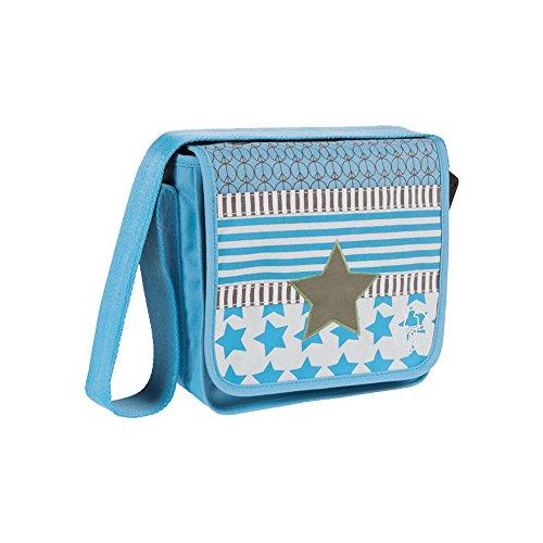 Lässig Kindergartentasche, Umhängetasche Mini Messenger Bag in verschiedenen Designs mit Ihrem Wunschnamen Bestickt (Starlight Olive)