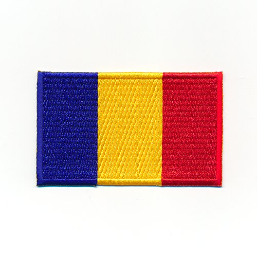 60 x 35 mm Rumänien Bukarest România Flagge Flag Patch Aufnäher Aufbügler 1051 B