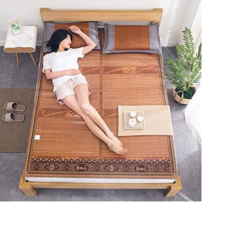 FGDSA Matratze Kühlbettwäsche Natürliche Bambusmatte Sommer Schlafmatte Faltbare...