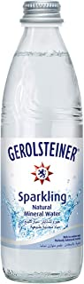 Gerolsteiner Sparkling natural mineral water 24 Glass bottle - 330ml, Pack of 24