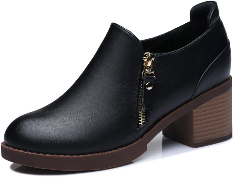 MET RXL Ladies Chunky Heels high Heels Waterproof Round Toe All-Purpose shoes