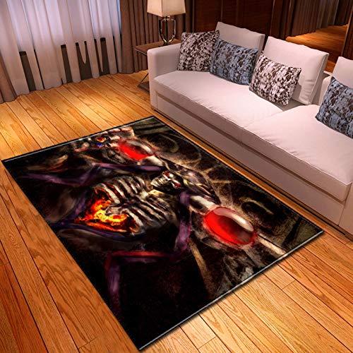 LGXINGLIyidian Casa Alfombra Serie Clásica De Calaveras De Demonio De La Parca Alfombra Suave Antideslizante De Decoración del Hogar De Impresión 3D T-1052K 100X150Cm