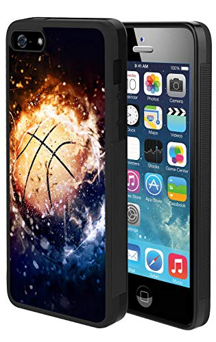 YOKIRIN iPhone SE Case, iPhone 5S 5 Case Basketball Phone Cover Hard PC Back Flexible TPU Bumper Protective Case Reinforced Drop Protection