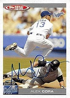 Autograph 126148 Los Angeles Dodgers 2004 Topps Total No. 162 Alex Cora Autographed Baseball Card