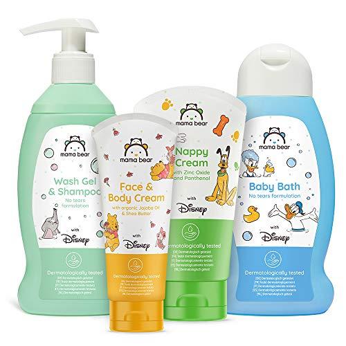 Mama Bear - Disney - Confezione mista di prodotti per bambino: bagnoschiuma, shampoo, crema per il cambio pannolino, crema viso e corpo