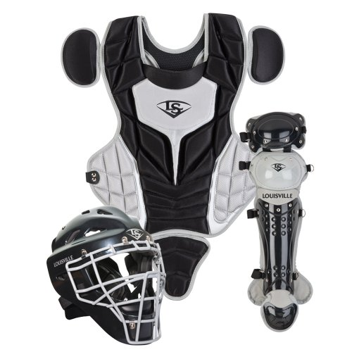 Louisville Slugger Youth PG Series 5 Catchers Set, Black/Gray